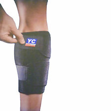 NEOPRENE ADJUSTABLE CALF SHIN LEG SUPPORT STRAIN BRACE SPORT STRAIN INJURY GYM M