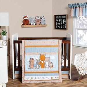 《NEW》Trend Lab Wild Woods Bunch 3 Piece Crib Bedding/Nursery Set