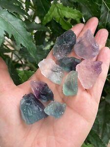 Grade A++ Fluorite Small Raw Natural Stone,Rough Rainbow Chip.Wholesale Bulk Lot