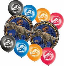 Jurassic World Birthday Party Supplies Decoration Foil and Latex Balloon Set