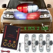 Red White 4X2 LED Car Warning Emergency Strobe Flashing Light  Bar Lamp Control