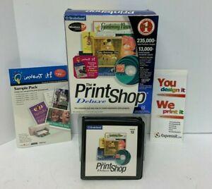 2001 Broderbund The Print Shop Deluxe Graphics Software Version 12