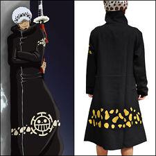 Anime One Piece Trafalgar·Law Costume Cosplay Black Clothing Cloak Cape #T