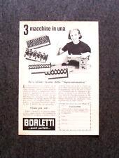 L571- Advertising Pubblicità -1957- BORLETTI , MACCHINA SUPERAUTOMATICA