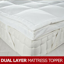 "Dual Layer Goose Feather & Down Mattress Topper, 7cm/3"" Thick, All Sizes"