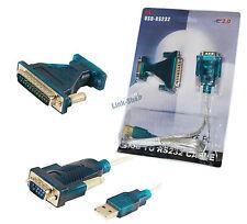 Cavo Adattatore Porta Convertitore USB Seriale RS232 DB9 DB25 Com 9 25 Pin Modem