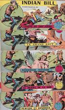 INDIAN BILL n°1 à 6. Collection complète 1958.