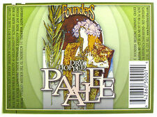Founders Brewing PALE ALE beer label MI 12oz with green border