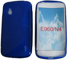 Pattern Gel Soft Case Protector Cover Pouch For LG Google Nexus 4 E960 N4 Blue