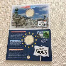 Blister d'une pièce de 5 € Belgique 2016 MONS Capitale Culture 10000 ex.