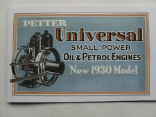Petter Universal Oil & Petrol Engines 1930 Catalogue