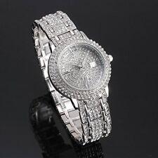 New Women Watch Stainless Steel Rhinestone Ceramic Crystal Quartz Wrist Watch