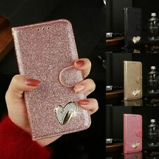 Bling Glitter Magnetic Card Holder Phone Case Cover For Samsung Galaxy A21S