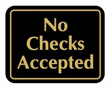 No Checks Accepted Sign Retail Store Merchandise Business Store Sale Signs