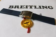 100% Genuino Nuevo Breitling Azul Correa de implementación de Buzo Pro Acanalado & Broche 24-20 M