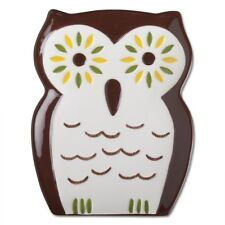 """204770 7"""" Brown Oscar Owl Snack Appetizer Plate Dish Halloween Holiday Party"""