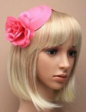 S rosa oval Filz Pillbox Kopfschmuck mit Blume auf einem Stirnband