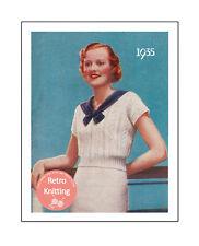 1930 s Sailor SWEATER VINTAGE KNITTING PATTERN-copie