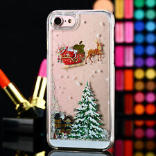 Bling Christmas Tree Dynamic Quicksand Glitter Case For iphone 7 7 Plus 6S 6+ 5s