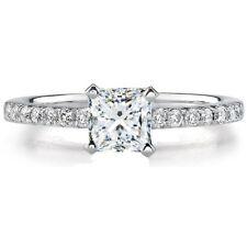 18k Rose Gold Princess Cut 1.80 Carat GIA Certified Diamond Engagement Ring