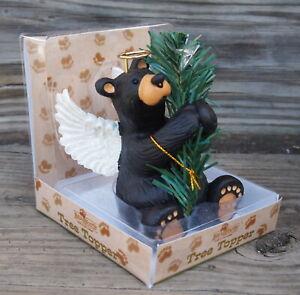 Jeff Fleming Bear Angel Figure, Tree Topper or Branch Hugger BearFoots 2014