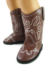 Brown Cowboy Western Boots for 18 inch American Girl Doll Clothes Shoes Cowgirl