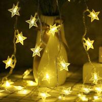 2.5M 20LED USB LED Stars String Fairy Light Home Xmas Wedding Party DIY Decor UK