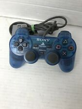 Sony Playstation 2 Clear Blue PS2 Dualshock Controller OEM (SCPH-1200)Authentic