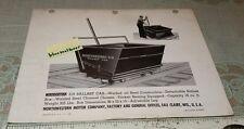 1940's Sales Brochure Northwestern RR Railroad  519 Ballast Car Eau Claire WI