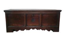 Cassapanca in noce massello con rosone ed intagli  -  XVIII secolo  -  epoca 700