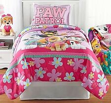 Paw Patrol Girl Twin Bed Set Best Pup Pals 4 Piece Comforter Sheets (2-day SH)