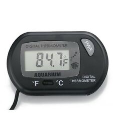 Black LCD Tank Aquarium Marine Terrarium Condition Thermometer Temperature US