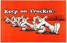 "Vintage R Crumb keep on truckin Poster Replica 13 x 19"" Photo Print"