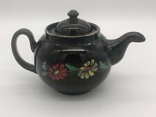 Vintage Alcock Lindley & Bloore Hand Painted Downturn Spout Floral Teapot.
