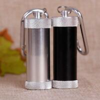 Portable Pocket Cigarette Ashtray Stainless Steel Metal Hasp Cylindrical O0V8