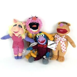 The Muppets Lot Of 4 Plush Toys 28cm Fozzie Bear, Miss Piggy, Gonzo, Animal