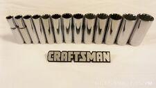 "Craftsman 13pc 3/8"" 12pt Metric DEEP Sockets Set Hand Tools MM STD Point Drive"