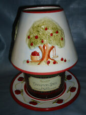 Large Jar Candle Topper and Plate Set, Country Style Apple Tree Design #1263-FSA