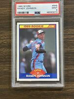 Randy Johnson Rookie Card 1989 Score #645 PSA Mint 9 Montreal Expos-Hall Of Fame