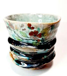 Ben Bates Studio Art Pottery Yunomi Tea Cup Rare!