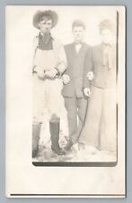 """Fake Soulpatch"" Antique RPPC Facial Hair Photo—Costume Antique AZO 1910s"