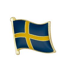 Sweden Flag Lapel Pin 19 x 16mm Hat Tie Tack Badge Pin Free Shipping