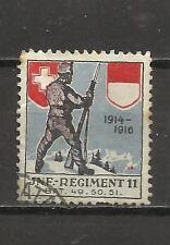 7445-VIÑETA VIGNETTE VIGNETTEN SUIZA REGIMENT Nº11,1ª GUERRA MUNDIAL 1914-1916.