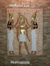 Ägyptische Reliefs Krönung des Pharao Wandrelief Agypten Sculptur Flachrelief