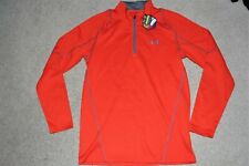 NWT Men Sz Large Under Armour Coldgear Fitted Infrared Pullover 1/2 Zip Top