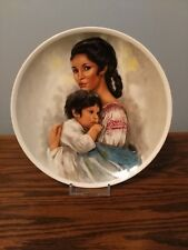 1980 'Young American Mother Day' Royal Bayreuth Collector Plate, Free Shipping!