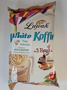 Luwak White Koffie 3 in 1 Instant Coffee -  3 Flavours - Mocca Vanilla Caramel
