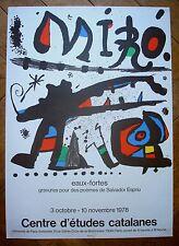 Miro affiche 1978 eaux-fortes gravures pour des poèmes de Salvador Espriu