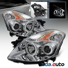 For 2008 2009 Nissan Altima Coupe [Dual CCFL Halos] Projector Chrome Headlights