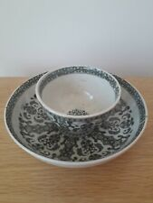 More details for pretty antique small tea bowl & saucer in gc